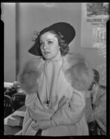 Ola Eccles at the time of her divorce from Herbert Eccles, Los Angeles, 1936