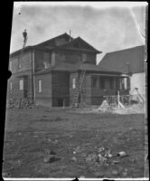 West family's partially constructed house, Los Angeles, 1896