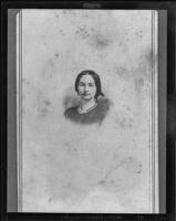 Fannie Jane West Brydolf, copy print of a circa 1865 original