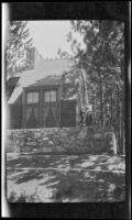 Cabin of the Albert Schmitz family, Lake Arrowhead, circa 1923
