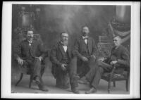 Four sons of Edward Ground, who traveled with the Butler Train in 1853, photograph copied 1935-1942