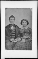 Newton and Paradine Butler, brother sister, who traveled with the Butler Train in 1853, photograph copied 1935-1942
