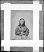 Margaret Leeper at age 16, who may be related to an account of the 1853 Butler Train to Oregon, circa 1871, photograph copied in 1939
