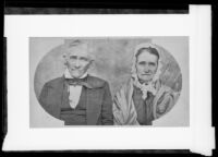 Peter Butler and his wife Rachel Cook(e) Murphy Butler, who traveled with the Butler Train in 1853, photograph copied 1935-1942