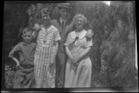 H. H. West, Jr., Mertie West and Wes and Zetta Witherby pose for a photograph, Los Angeles, 1925