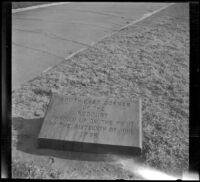 Historical marker at Bunker Hill, Boston, 1914