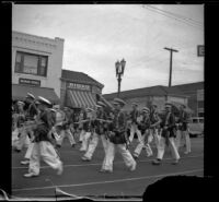 Glendale YMCA Marching Band in the Armistice Day Parade, Glendale, 1936