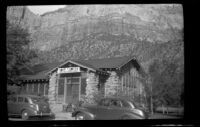 Camp center and cafeteria near the south entrance to Zion National Park, Springdale vicinity, 1942
