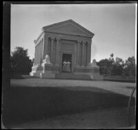 Two women visiting the Stanford Mausoleum, Palo Alto, 1898
