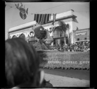 Tournament of Roses parade float passing down East Colorado Boulevard, Pasadena, 1941