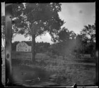 River Mills seen from the window of a train, Red Oak, 1900