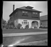 H. H. West's residence on Griffin Avenue dons a new coat of paint, Los Angeles, about 1937
