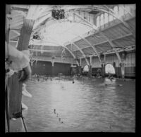 Swimming pool at the North Beach Bath House, Santa Monica, about 1895
