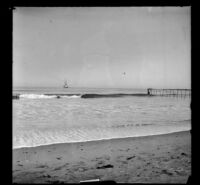 View of the Pacific Ocean, Santa Monica, about 1895