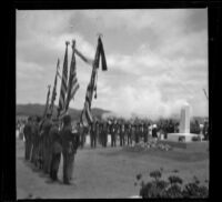 Servicemen commemorate Decoration Day at Los Angeles National Cemetery, Los Angeles, about 1895