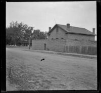 Yreka jail, viewed from the opposite side of the street, Yreka, 1898