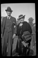Frank Powers and his daughter at the Iowa Picnic in Lincoln Park, Los Angeles, 1939