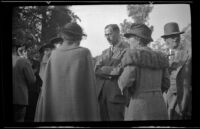Ralph Hiatt stands with other attendees of the Iowa Picnic in Lincoln Park, Los Angeles, 1939