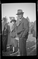 Man at the Iowa Picnic in Lincoln Park, Los Angeles, 1939