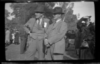 Two men at the Iowa Picnic in Lincoln Park, Los Angeles, 1939