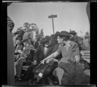 Attendees of the Iowa Picnic in Lincoln Park, Los Angeles, 1940