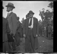 Charles Wheeler and Mr. Kelly at the Iowa Picnic in Lincoln Park, Los Angeles, 1940