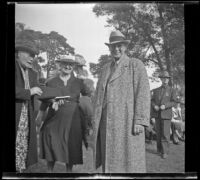 Leta French and Harry French at the Iowa Picnic in Lincoln Park, Los Angeles, 1940