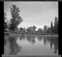View of the Iowa Picnic in Lincoln Park, Los Angeles, 1940
