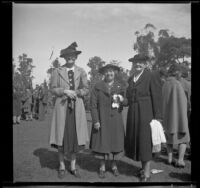 Mrs. John Biddick, Etta Updike Fuller, and Fannie Mead Biddick at the Iowa Picnic in Lincoln Park, Los Angeles, 1940