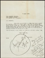 Letter from H. H. West to Juliette Anderson with handwritten notation by West, 1955