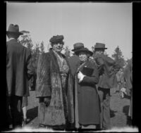 Alice Baltzell Tibbetts and Etta Updike Fuller at the Iowa Picnic in Lincoln Park, Los Angeles, 1940