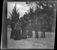 H. H. West's friends and family stand in Lincoln (Eastlake) Park, Los Angeles, 1899