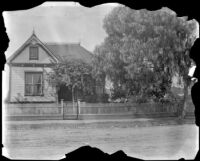 Former West family residence on South Workman Street, viewed from the front, Los Angeles, 1894