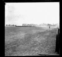 Military troops in Exposition (Agricultural) Park, Los Angeles, 1898