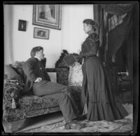 Earl Kellum and Minnie Kellum in their family's home, Los Angeles, about 1899