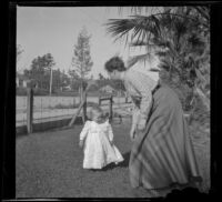 Josie Shaw plays with her son, Lester, Los Angeles, about 1896