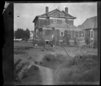 Backyard of the West's house at 240 South Griffin Avenue, Los Angeles, 1897