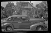 H. H. West's 1939 Buick Model 41 parked on North Workman Street, Los Angeles, 1942