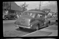 H. H. West's 1939 Buick Model 41 parked along North Workman Street, Los Angeles, 1942