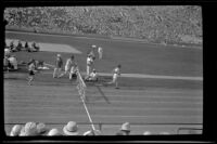 Runners in a hurdle race at the Olympic Games, Los Angeles, 1932