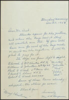 Letter from Mrs. B. B. Borgman to Mr. West re: pictures of Marines, Los Angeles, 1943