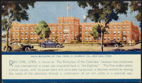 Information card displaying the main building of the Thos D. Murphy Co., Red Oak, [about 1940s]
