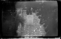 Tablets inset into a garden wall at Old North Memorial Garden, Boston, 1947
