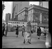 Mertie West on Fifth Avenue, New York, 1947