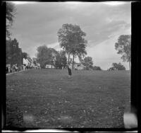 Mertie West on a lawn at Mount Vernon Estate, Mount Vernon, 1947