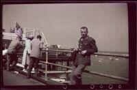 Lieutenant William Lynn West visits Santa Monica Pier, Santa Monica, 1942