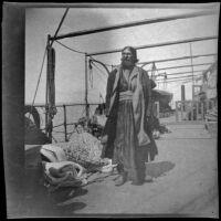 Man on a ferry, Turkey, 1895