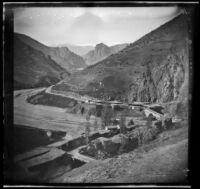 Village in a mountain landscape, Turkey, 1895