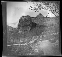 """Old walls"" on a slope, Bursa (perhaps), Turkey, 1895"