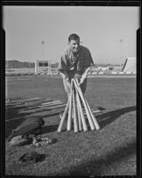 Zeb Terry at Gilmore Stadium, Los Angeles, 1936